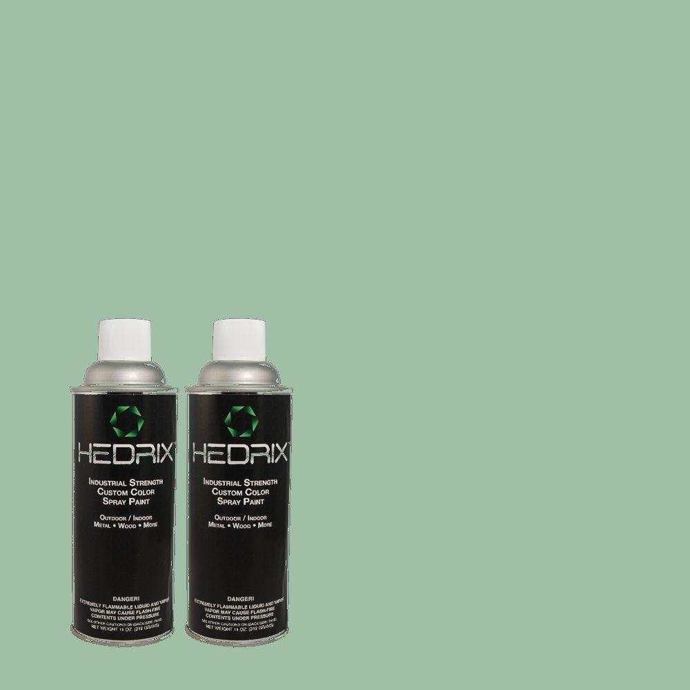 Hedrix 11 oz. Match of MQ6-37 Mild Evergreen Low Lustre Custom Spray Paint (2-Pack)