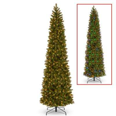 12 ft. Downswept Douglas Pencil Slim Fir Tree with Dual Color LED Lights