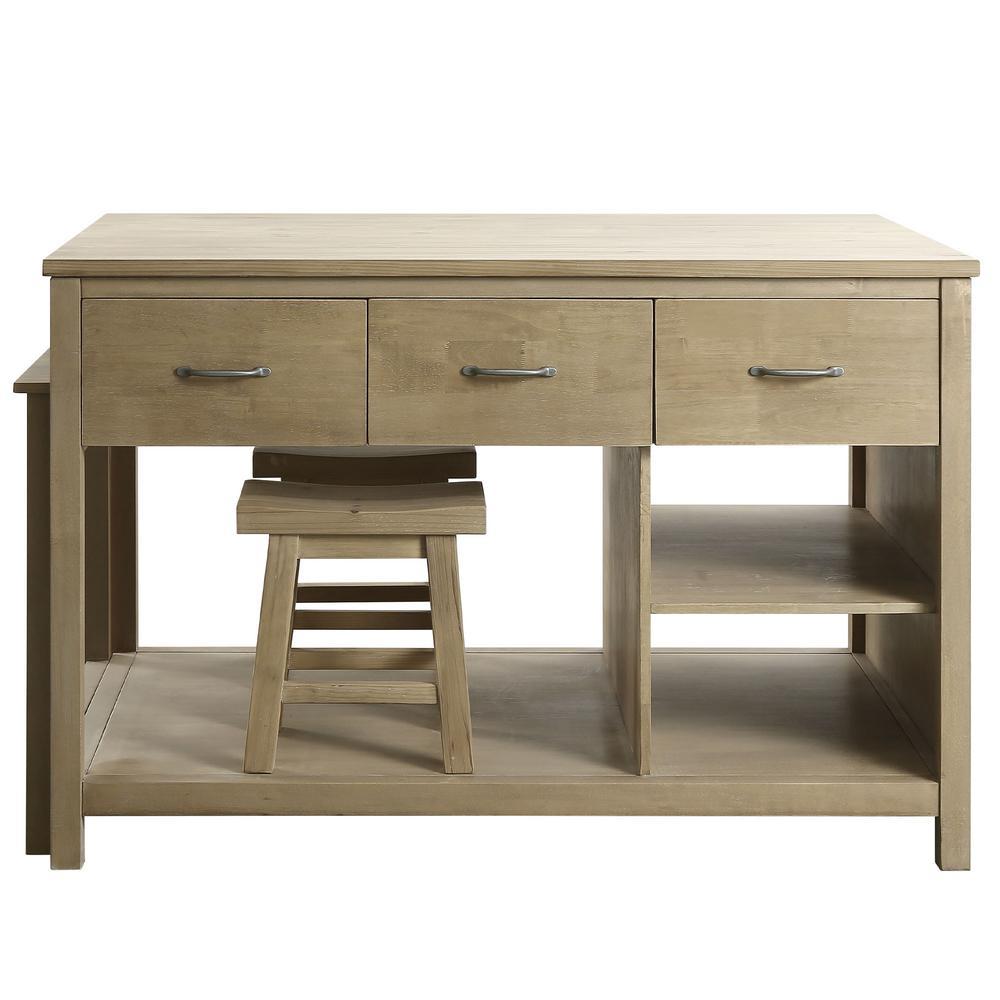 Design Element Garrett Natural Kitchen Slide Out Table 11451
