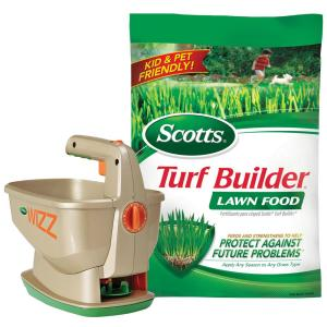 Scotts Wizz Spreader and Turf Builder Lawn Food 5M Lawn Food Combo by Scotts