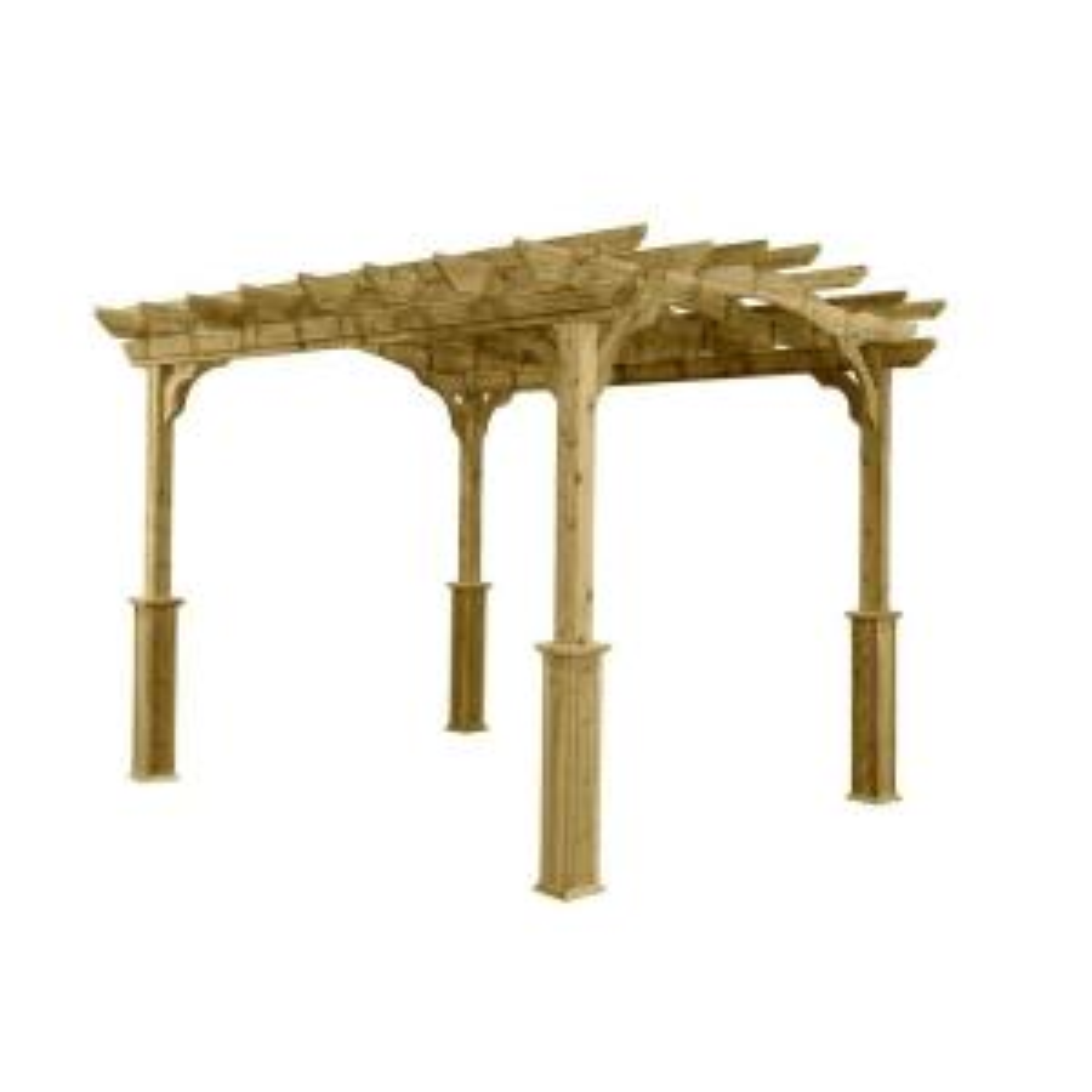 10 ft. x 12 ft. Wood Pergola by