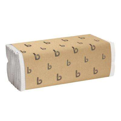 C-Fold Paper Towels, Bleached White, 200 Sheets/Pack, 12 Packs/Carton
