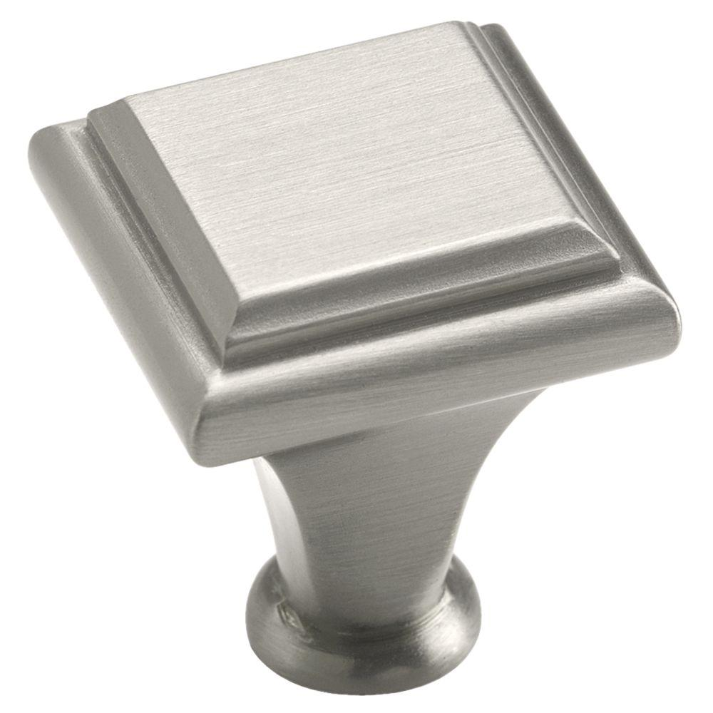 Manor 1 in. Satin Nickel Square Cabinet Knob