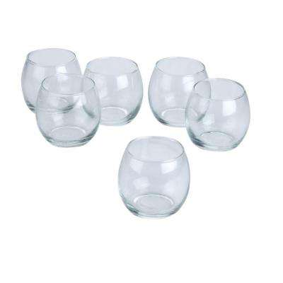 Clear Glass Hurricane Votive Candle Holders (Set of 36)