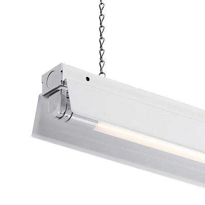 4 ft. 1-Light White LED Shop Light with T8 LED 4000K Tubes