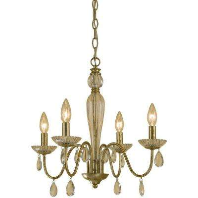 Judy 4-Light Soft Gold Mini Chandelier
