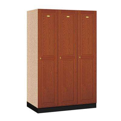 11000 Series 48 in. W x 76 in. H x 21 in. D Single Tier Solid Oak Executive Locker in Medium Oak