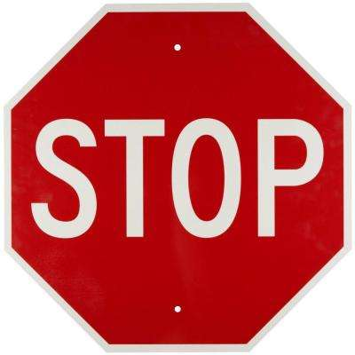 30 in x 30 in. Reflective Aluminum Traffic Stop Sign