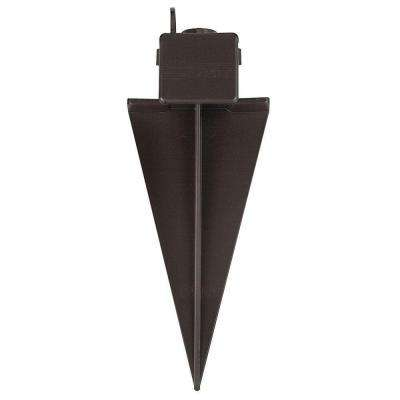 11 in. Composite Bronze Ground Spike with Junction Box