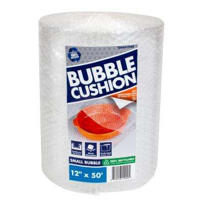 3/16 in. x 12 in. x 50 ft. Clear Perforated Bubble Cushion Wrap