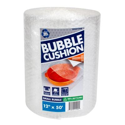 3/16 in. x 12 in. x 50 ft. Clear Perforated Bubble Cushion Wrap (2-Pack)