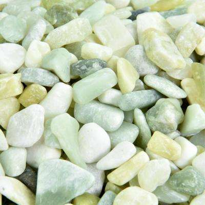 5 lbs. of Jade 3/8 in. to 5/8 in. Polished Pebbles