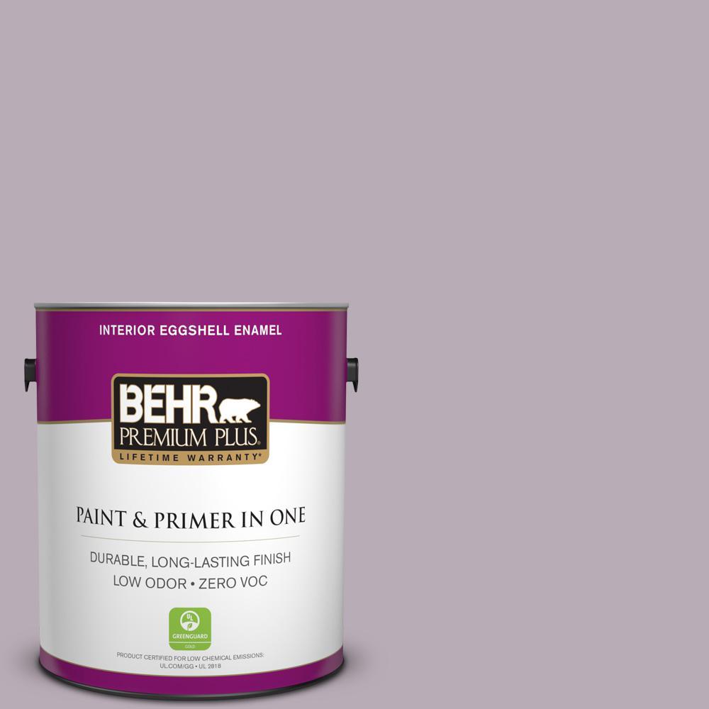 BEHR Premium Plus 1-gal. #670F-4 Silverberry Zero VOC Eggshell Enamel Interior Paint