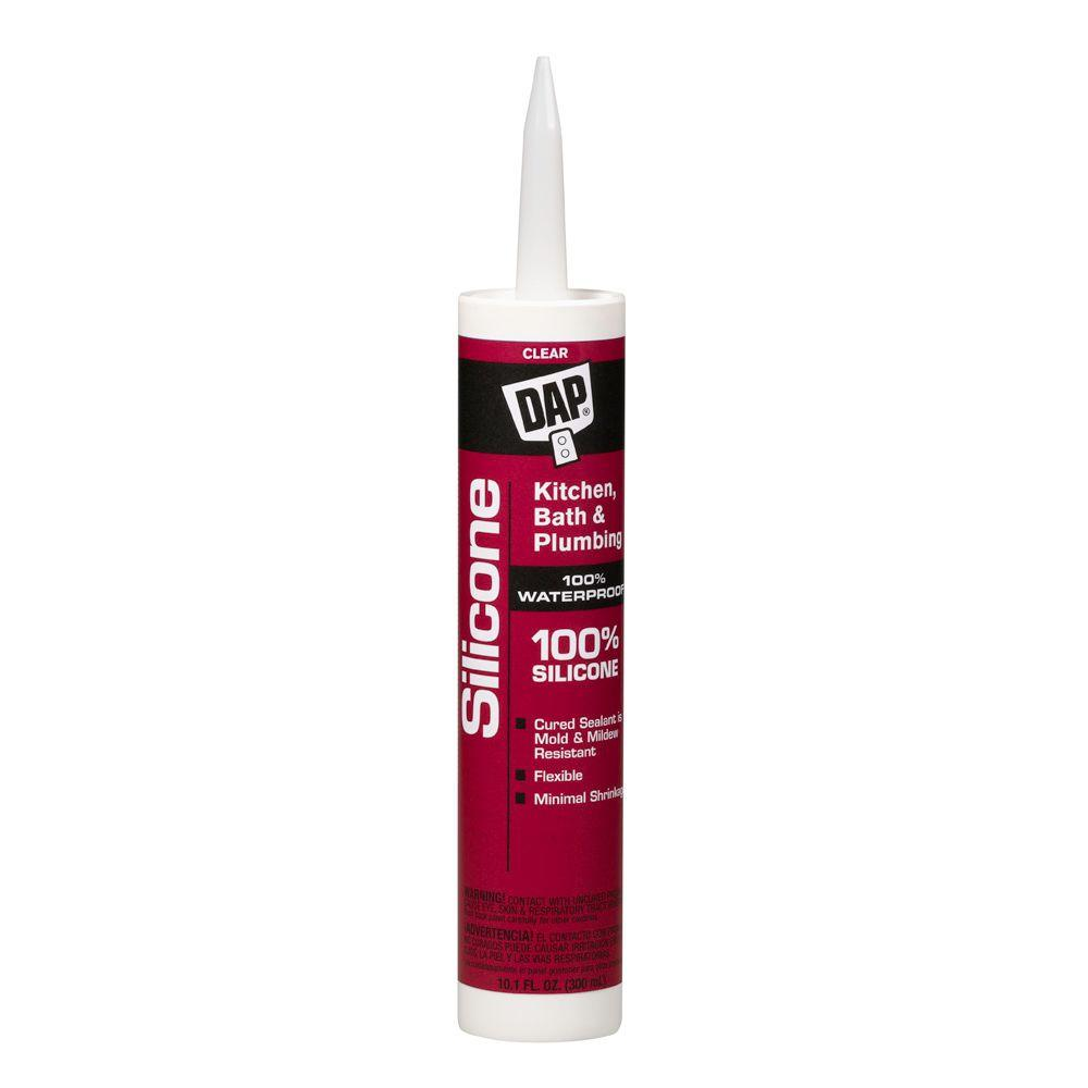 Silicone 10.1 oz. Clear Kitchen and Bath 100% Silicone Rubber Sealant