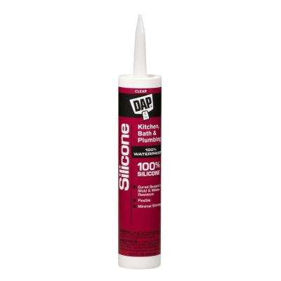 Silicone 10.1 oz. Clear Kitchen and Bath 100% Silicone Rubber Sealant (12-Pack)