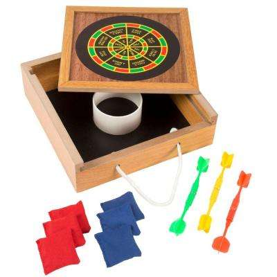8.75 in. Tabletop Bean Bag Toss and Magnetic Dart Game Set