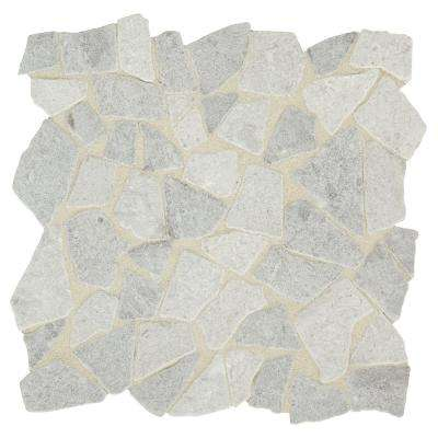 Premier Accents Shadow Gray 12 in. x 12 in. x 8 mm Tumbled Pebble Mosaic Floor and Wall Tile (0.91 sq. ft. / piece)