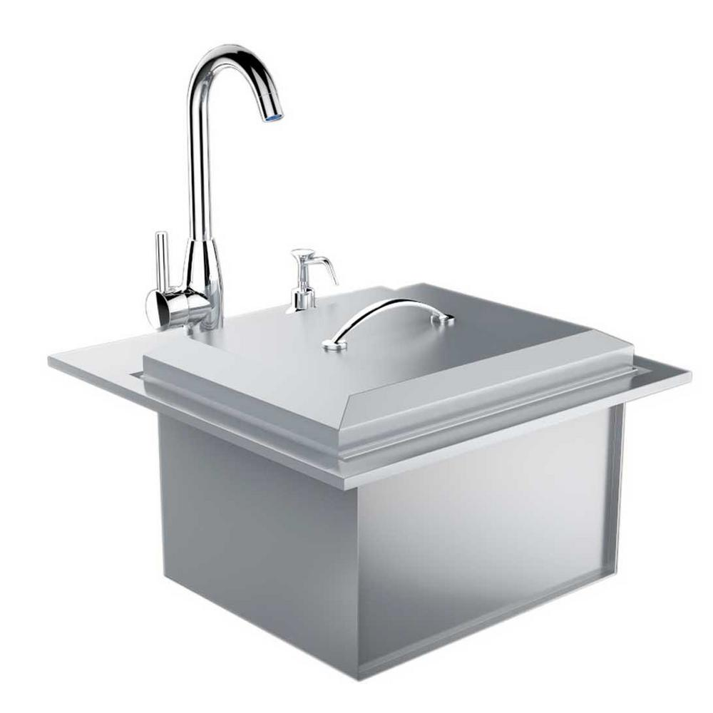 Sunstone Premium Drop In Sink with Hot and Cold Water Faucet and ...