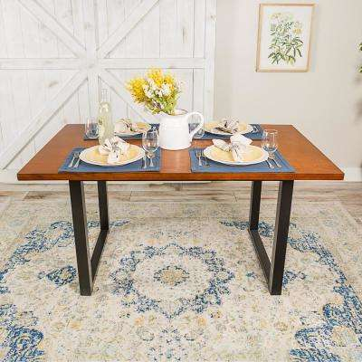 Antique Brown 60 in. Madison Wood Dining Table