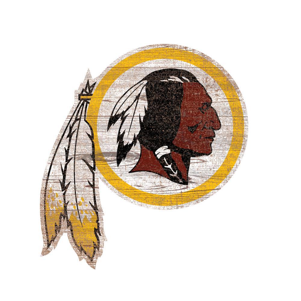NFL Indoor Washington Redskins Distressed Logo Cutout Wood Sign