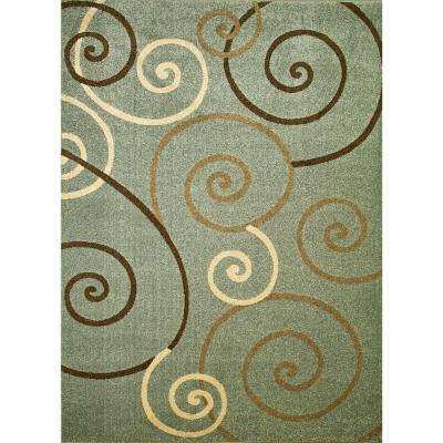 Chester Scroll Blue 3 ft. x 4 ft. Area Rug