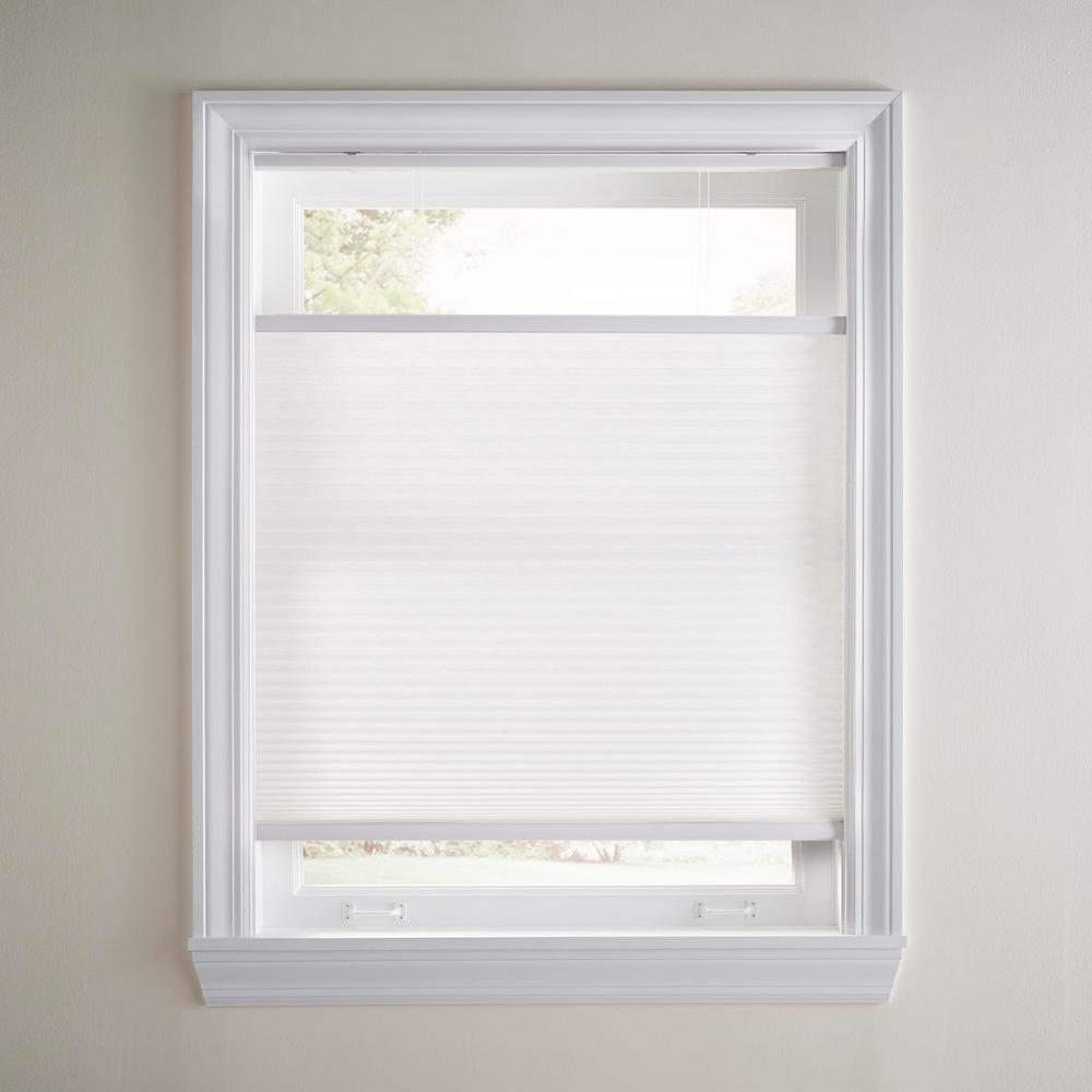 Home Decorators Collection Snow Drift Top Down Bottom Up Cordless Cellular Shade 28 75 In W X 72 In L Actual Size 28 375 In W X 72 In In L 10793478788712 The Home Depot
