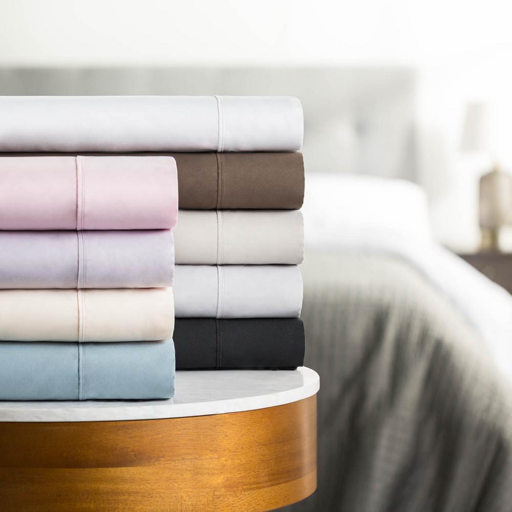 3-Piece Brushed Microfiber Pink Cot Size Sheet Set