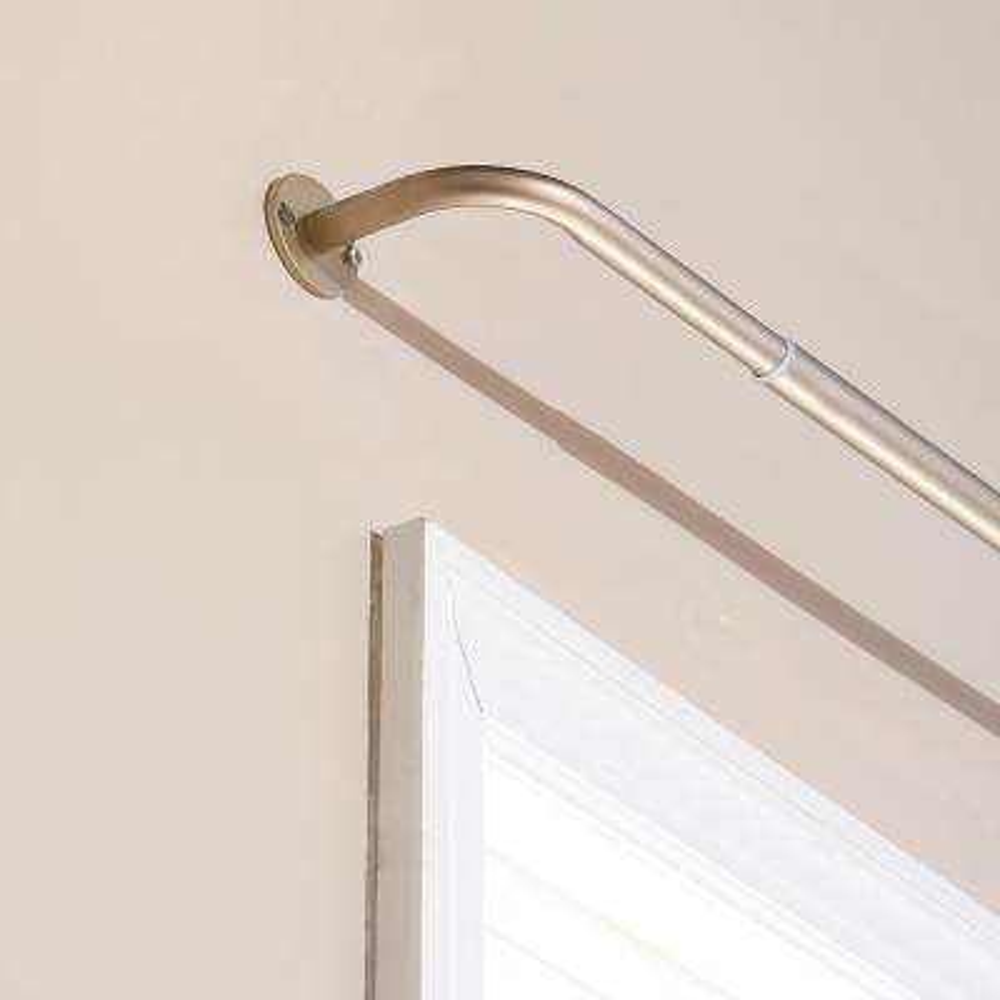 Adjustable 48 in. - 84 in. Metal Wraparound Rod in Bronze