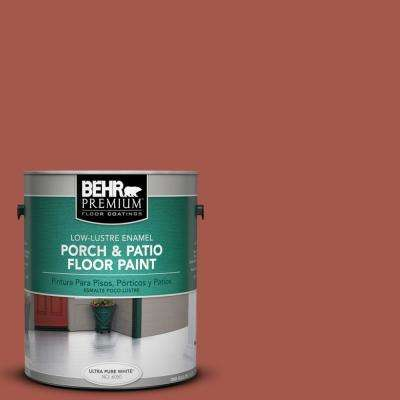 1 gal. #PPU2-15 Cajun Red Low-Lustre Porch and Patio Floor Paint