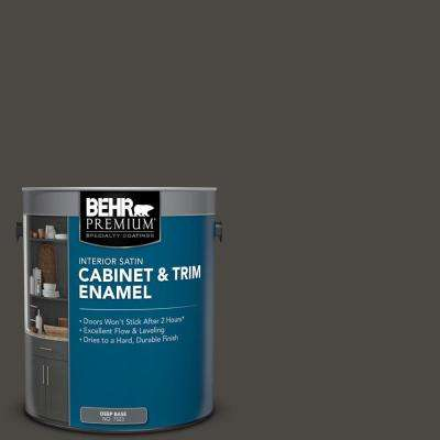 1 gal. #PPU24-01 Black Mocha Satin Enamel Interior Cabinet and Trim Paint