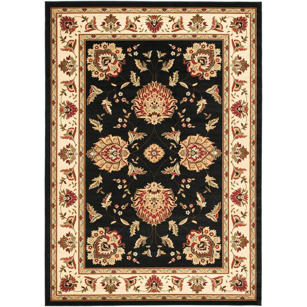 Safavieh Lyndhurst Black/Ivory 6 ft. 7 in. x 9 ft. 6 in. Area Rug