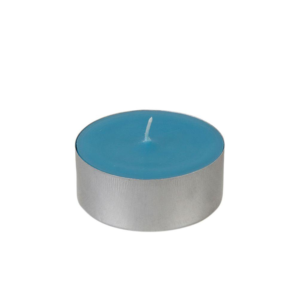 Zest Candle 2.25 in. Turquoise Mega Oversized Tealights (12-Box)