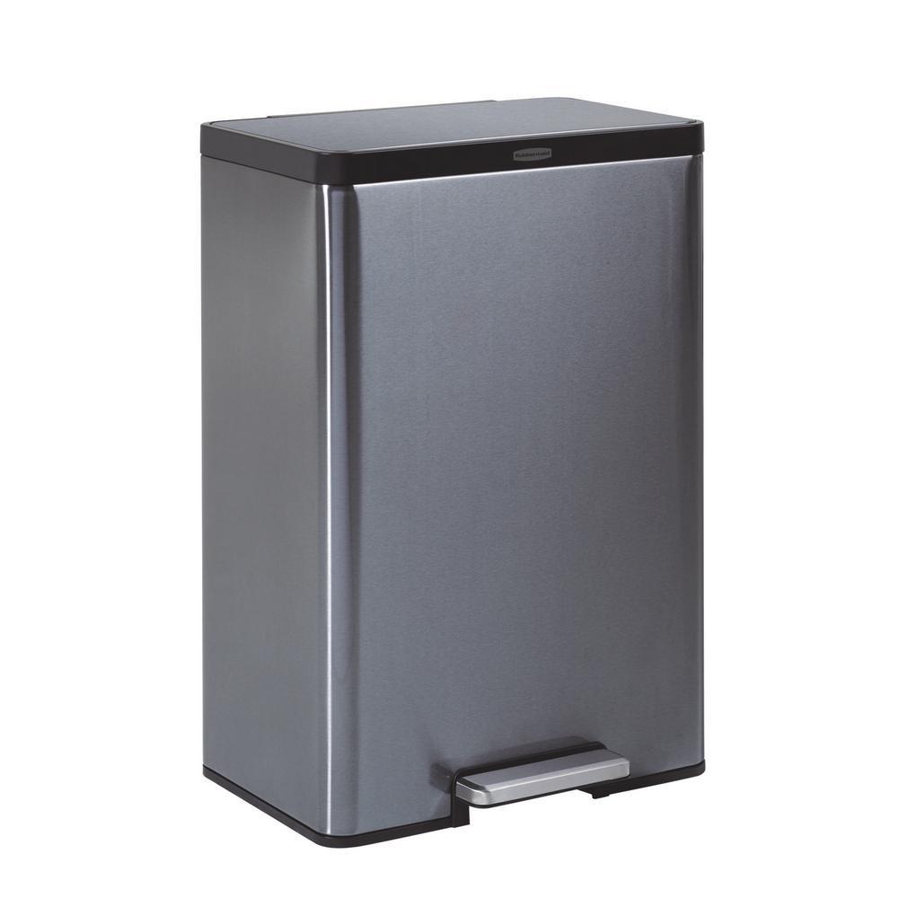 12 Gal. Stainless Steel Metal Step-On Trash Can