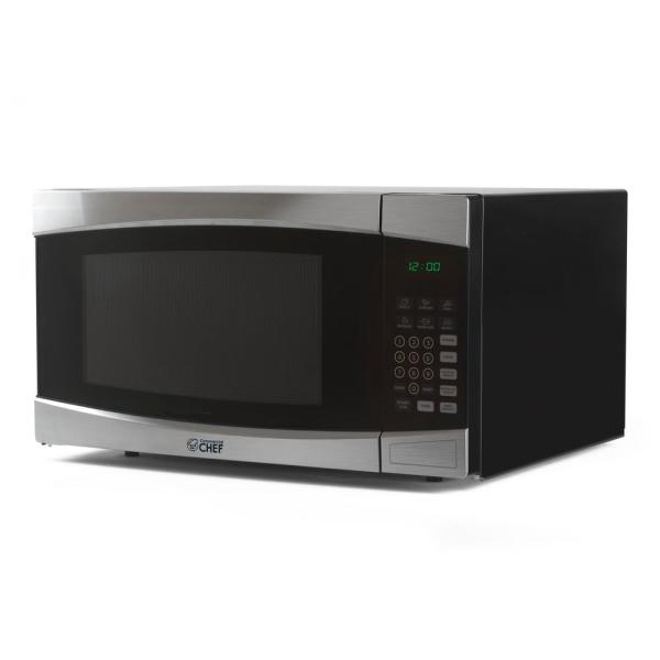 1.6 cu. ft. Countertop Microwave Stainless and Black