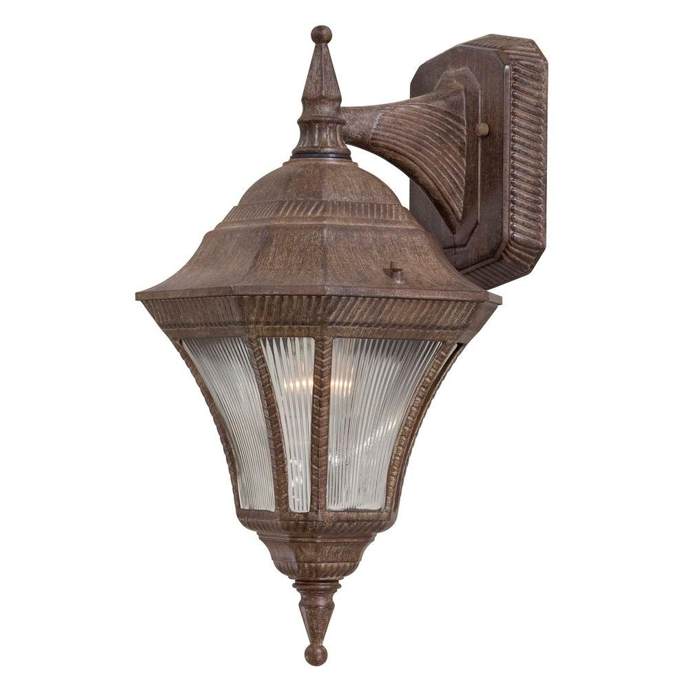the great outdoors by Minka Lavery Segovia 1-Light Vintage Rust Outdoor Wall-Mount Lantern
