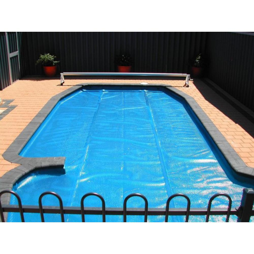 Pool Central 18 ft. x 34 ft. Oval Heat Wave Solar Pool Cover in Blue