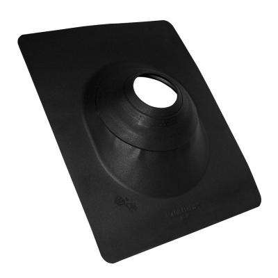 No-Calk 3 in. to 4 in. Aluminum Black Roof Flashing