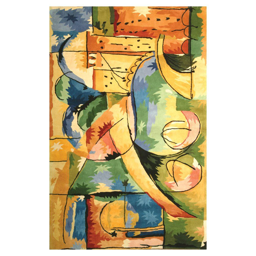 Kas Rugs Abstract City Multi 8 ft. x 11 ft. Area Rug