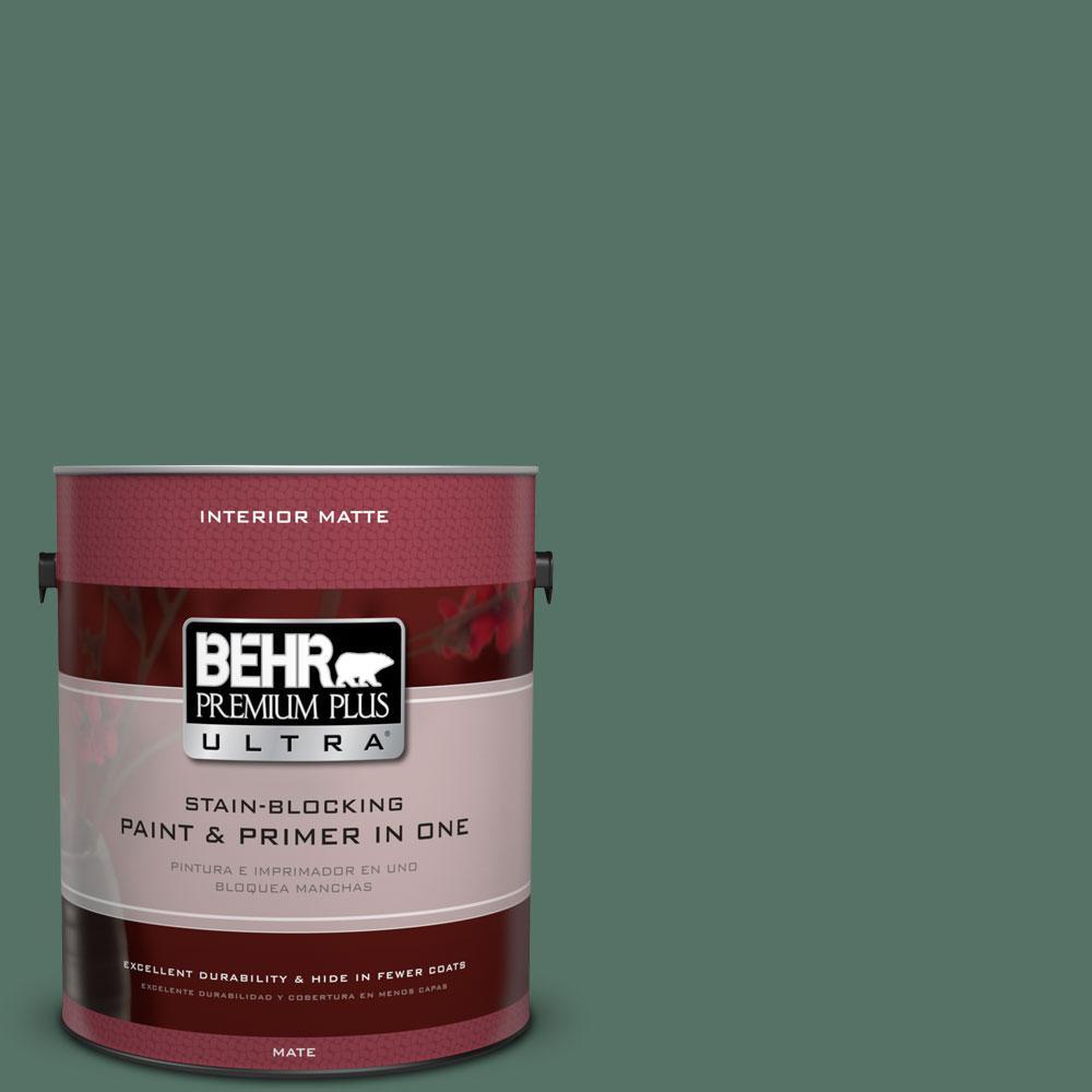 BEHR Premium Plus Ultra 1 gal. #470F-6 Hilltop Flat/Matte Interior Paint