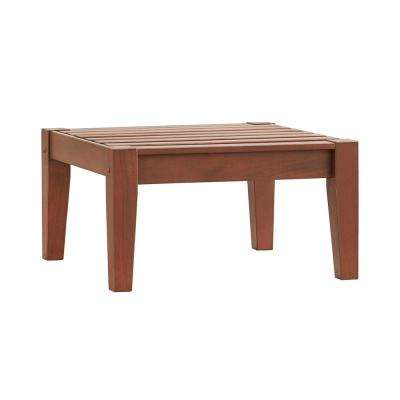 Verdon Gorge Brown Oiled Wood Outdoor Ottoman