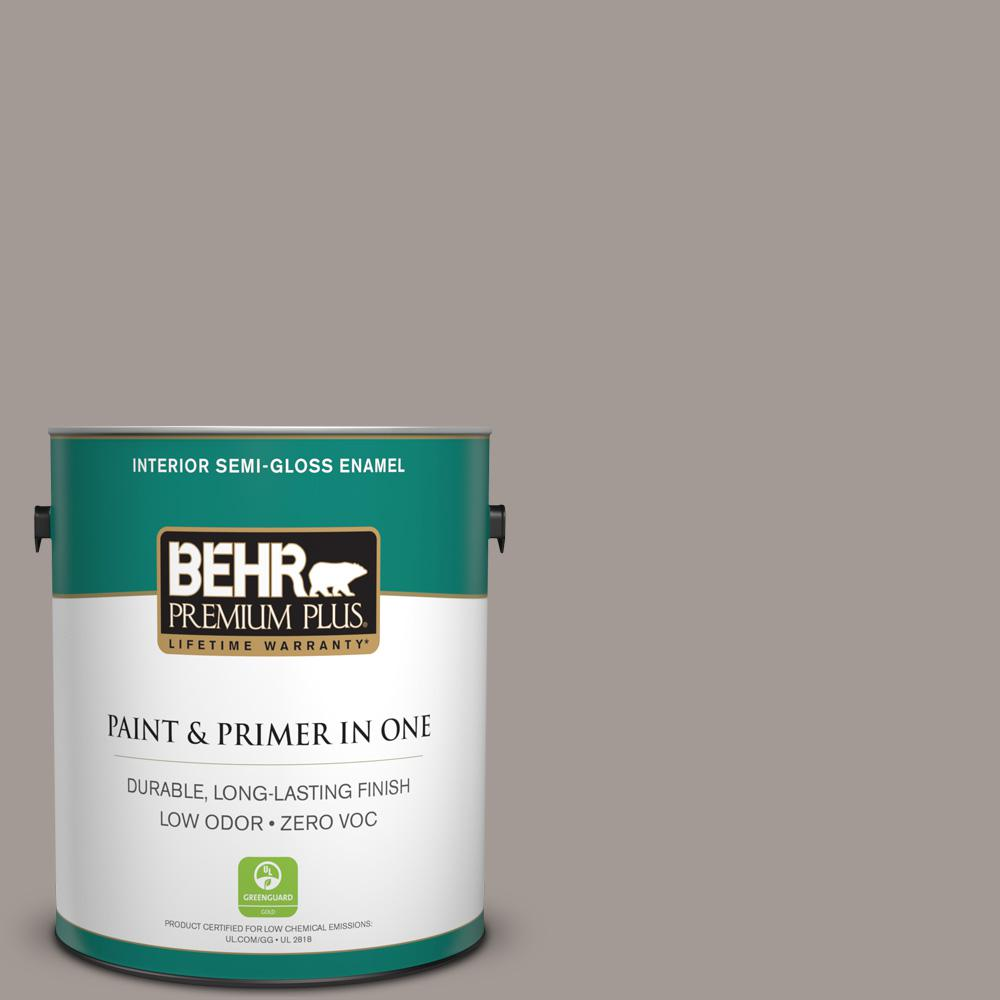 1-gal. #BXC-54 River Pebble Semi-Gloss Enamel Interior Paint