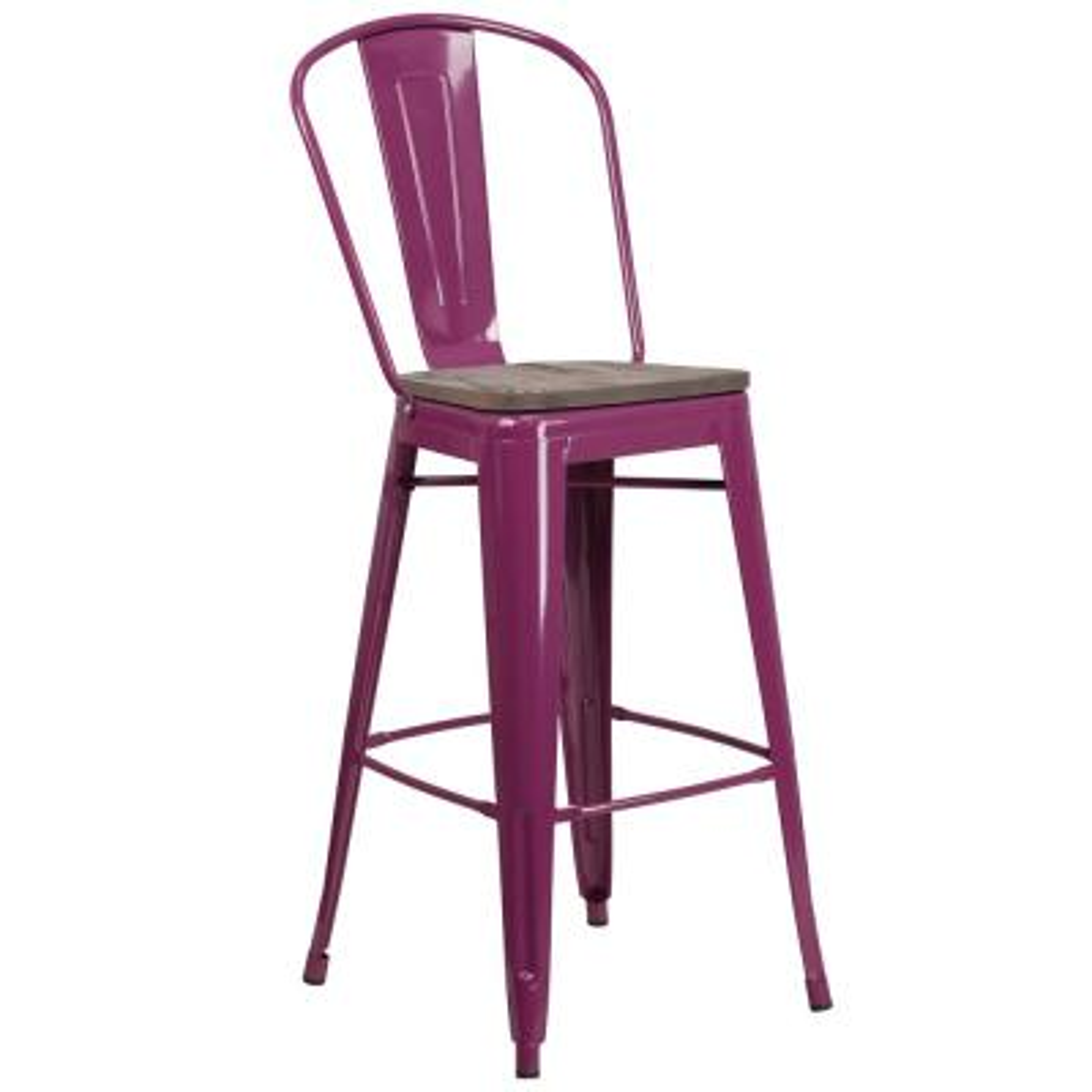 Purple Bar Stool
