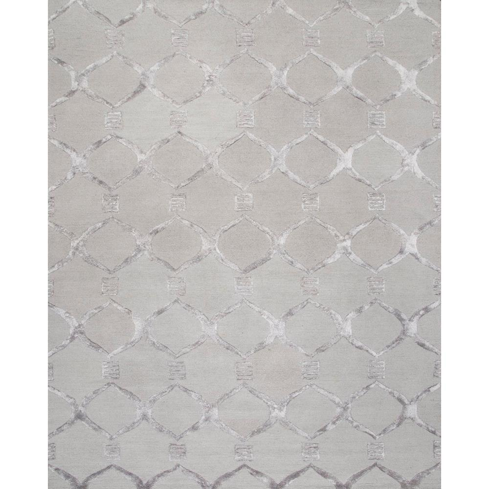 Nuloom Tuscan Trellis Grey 9 Ft X 12 Area Rug
