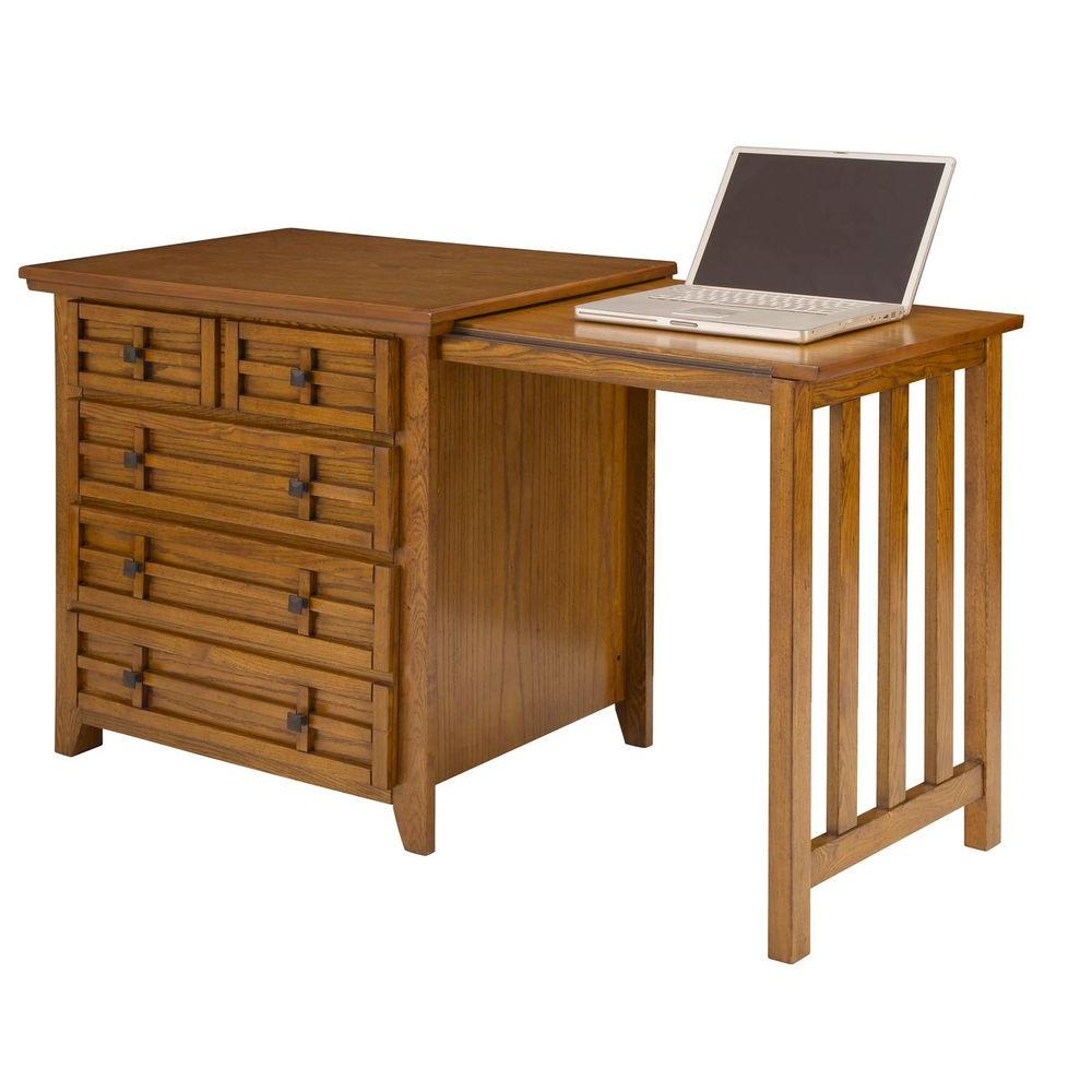 Home Styles Arts & Crafts Cottage Oak Expand-a-Desk-DISCONTINUED