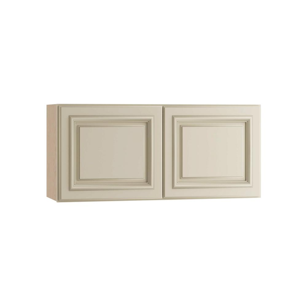 30x18x12 in. Holden Assembled Wall Double Door Cabinet in Bronze Glaze
