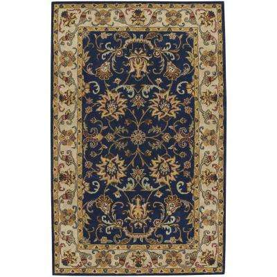 Guilded Dark Blue 10 ft. x 14 ft. Area Rug