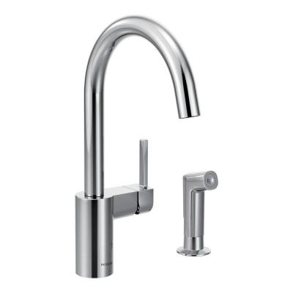 Moen Banbury High Arc 2 Handle Standard Kitchen Faucet With