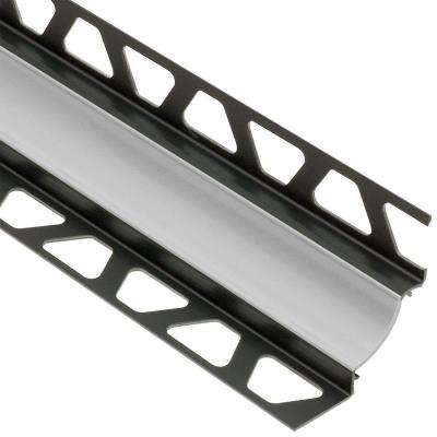 Dilex-HKW Classic Grey 7/16 in. x 8 ft. 2-1/2 in. PVC Cove-Shaped Tile Edging Trim