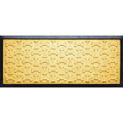 Yellow 15 in. x 36 in. x 1/2 in. Dog Treats Boot Tray
