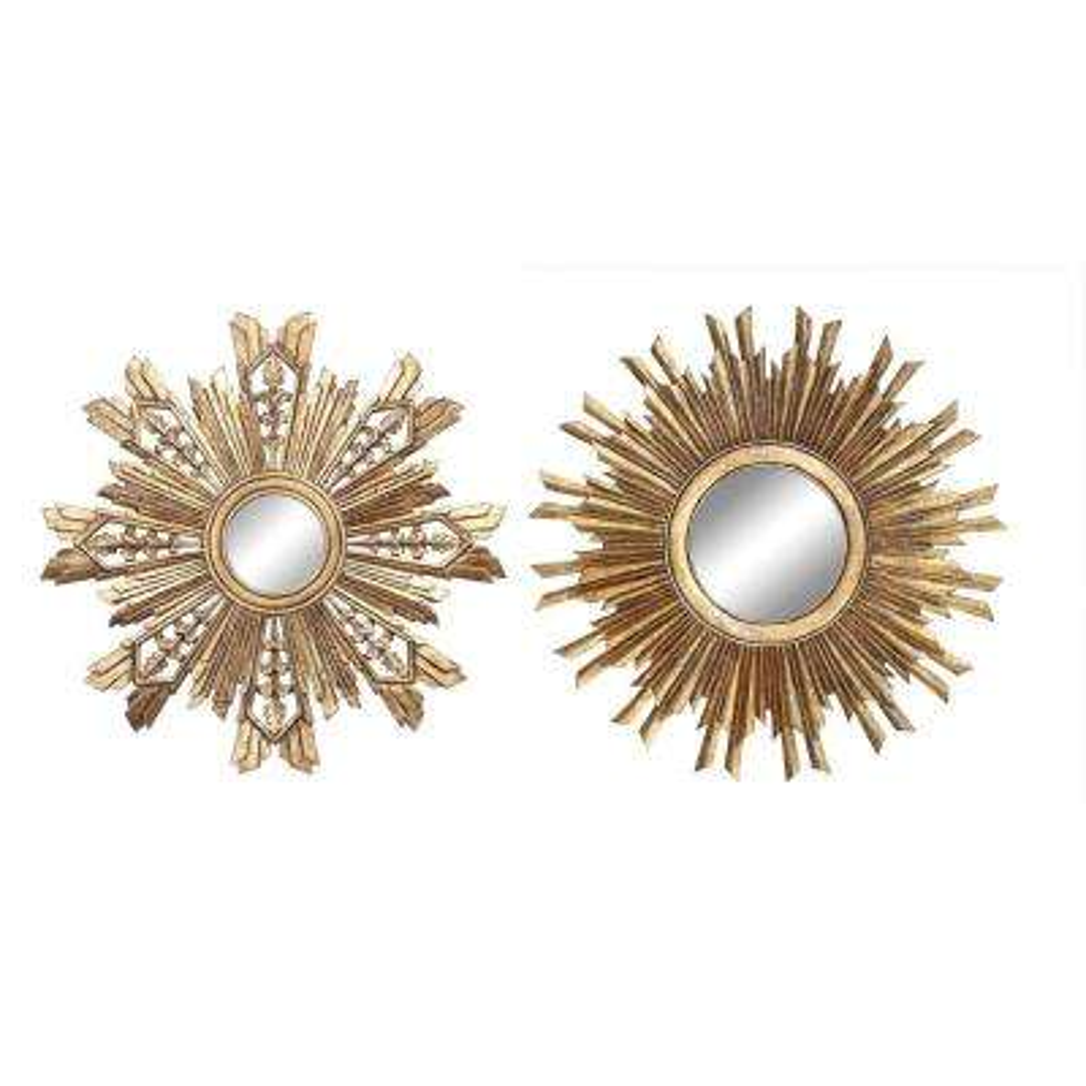 Sunburst and Snowflake Decorative Mirror Set